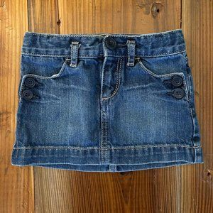 Gap Kid's Denim Skirt Sailor Buttons 3T